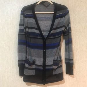 WallpapHer Striped Cardigan, size Small